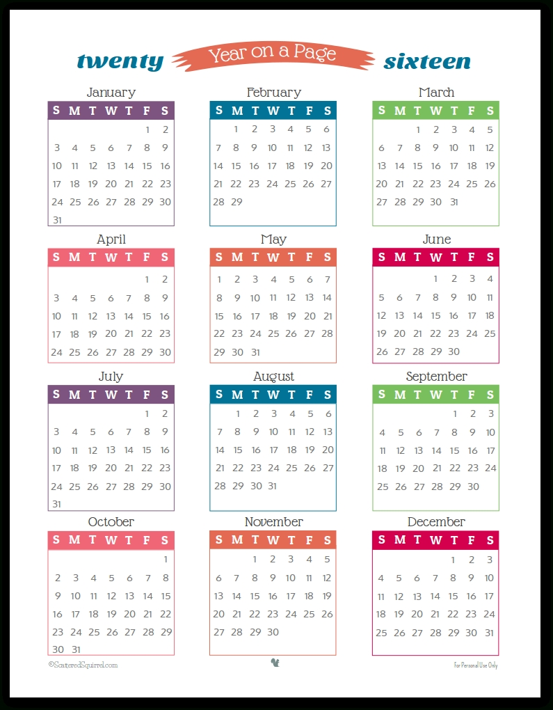 Happy New Year 2016 Calendar- Holidays & Festivals, New