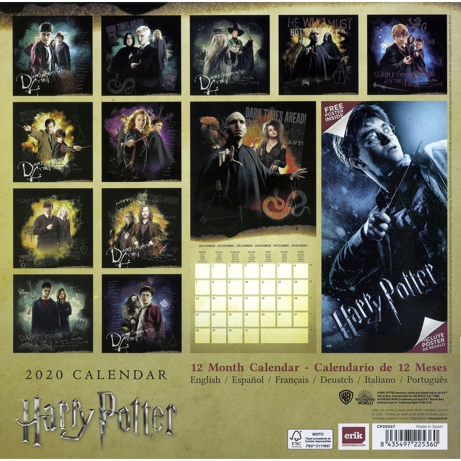 Harry Potter Calendar 2020 - Calendars Buy Now In The Shop
