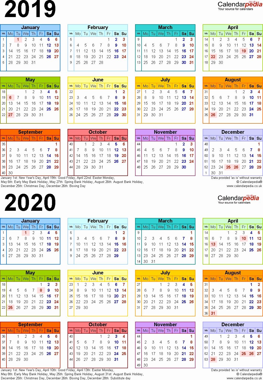 Hindu Calendar In English 2019 2020 Two Year Calendars For