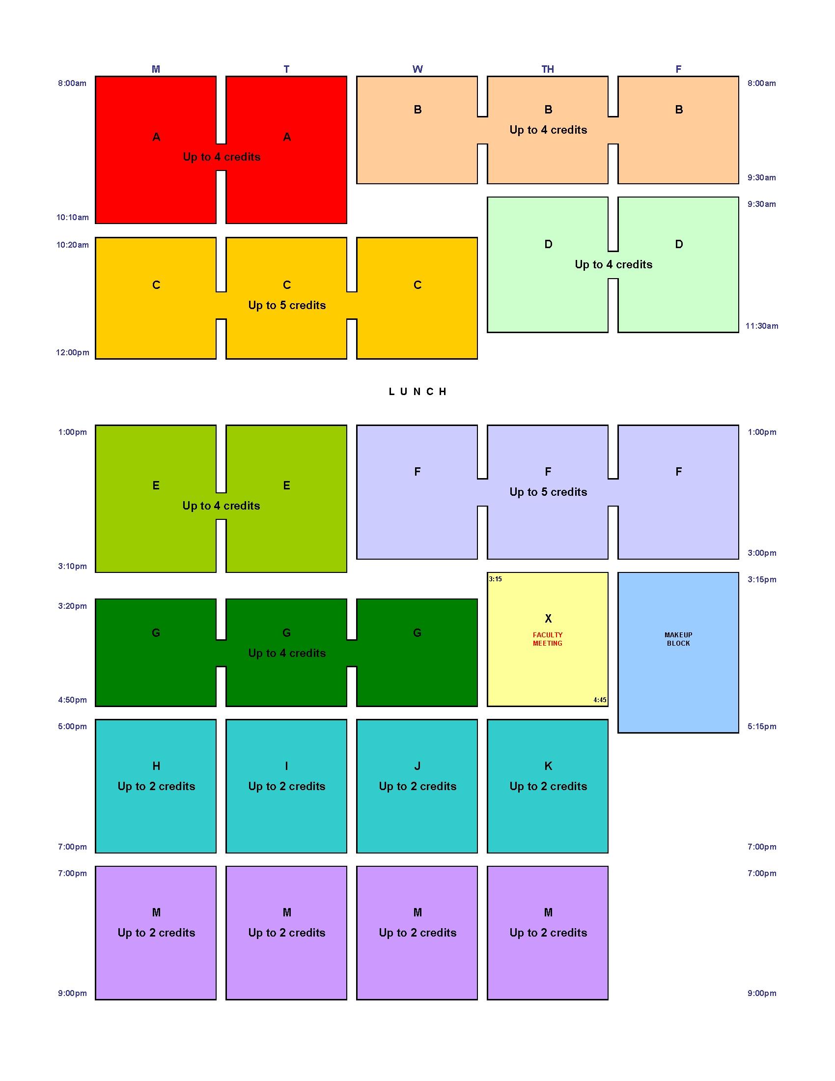 Hls Block Schedule | Harvard Law School