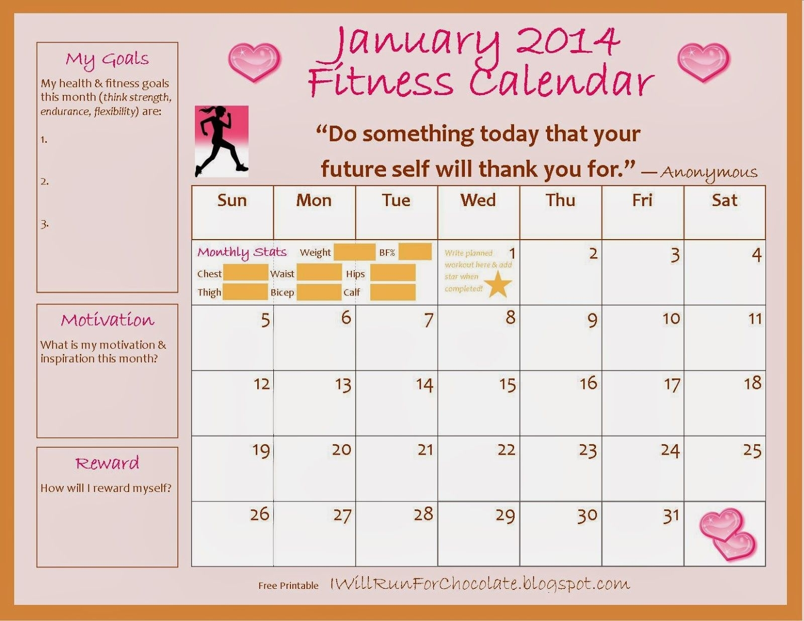 Hold Yourself Accountable With A Free Printable Exercise