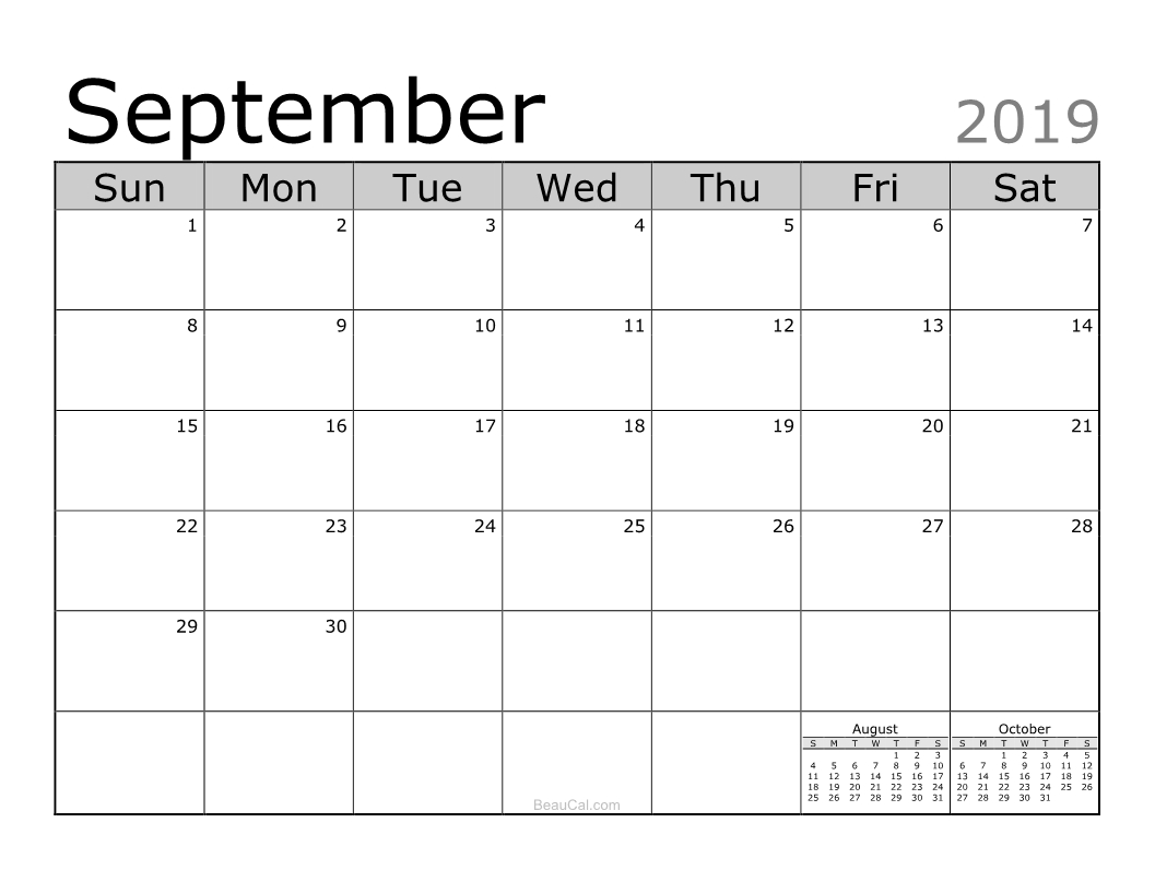 Holidays And Observances In September 2019 Calendar
