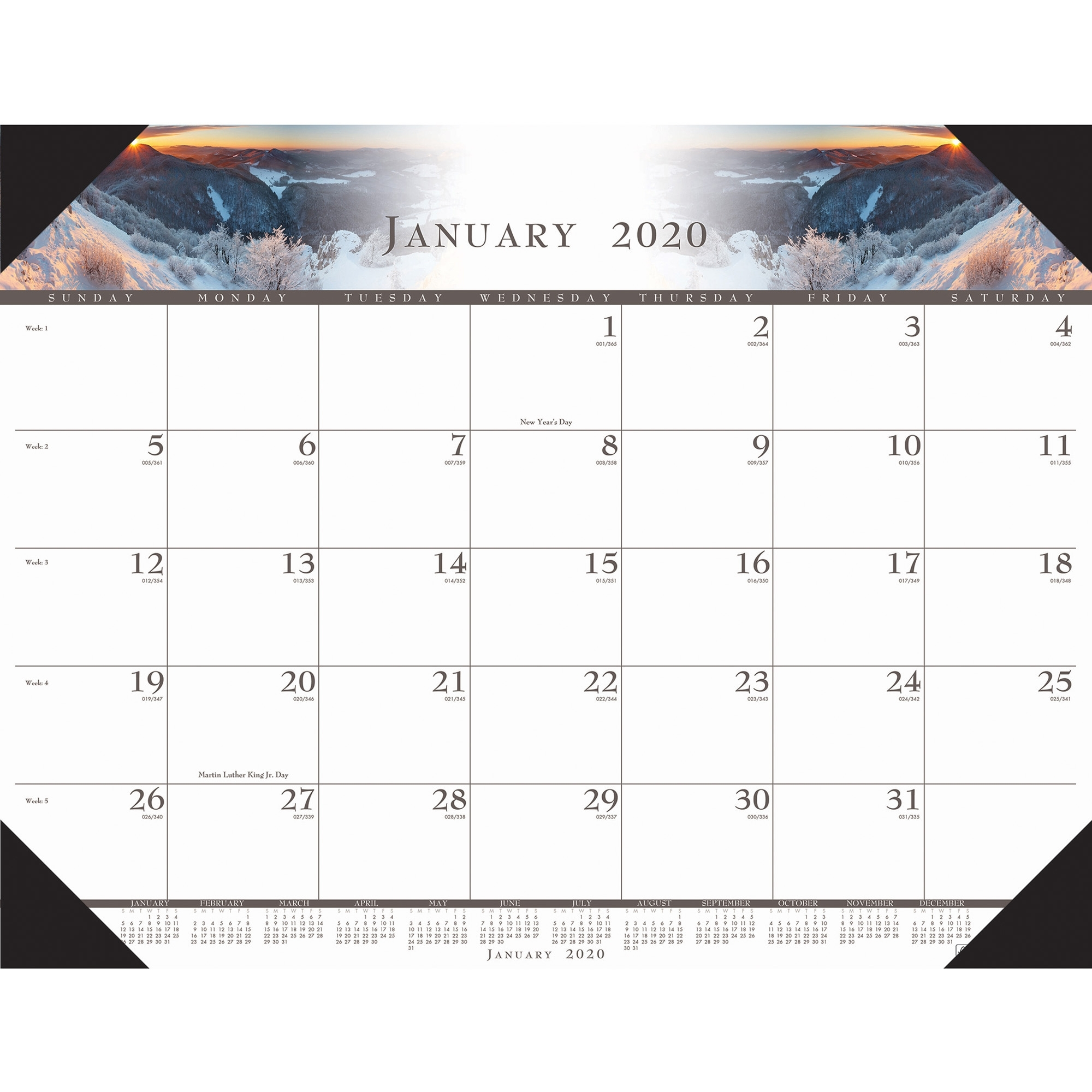 House Of Doolittle Recycled Illustrated Desk Pad Calendar