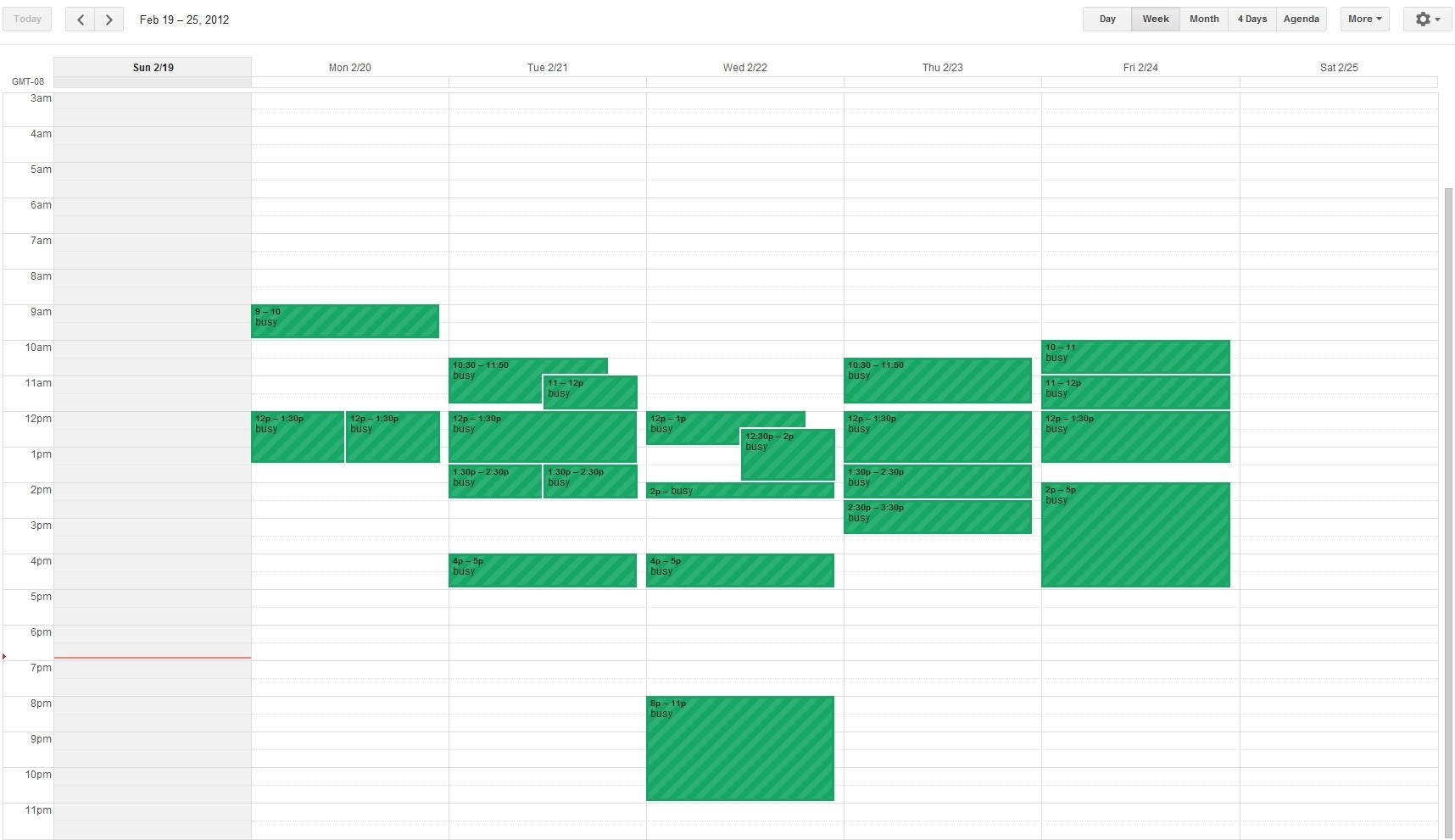 How Can I Create A Weekly Calendar View For An Android