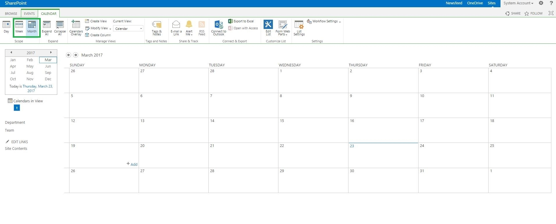 How To Call A Function Of Month And Week View In Calendar