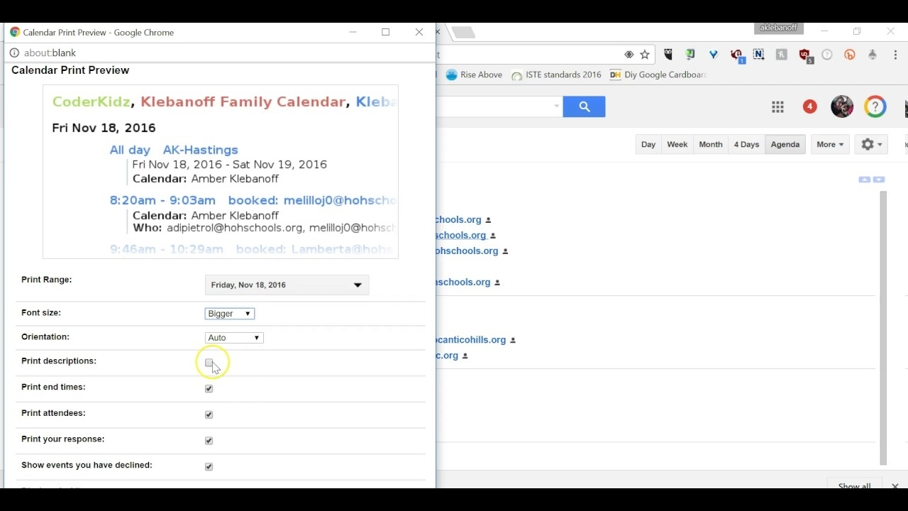 How To Print From Google Calendar