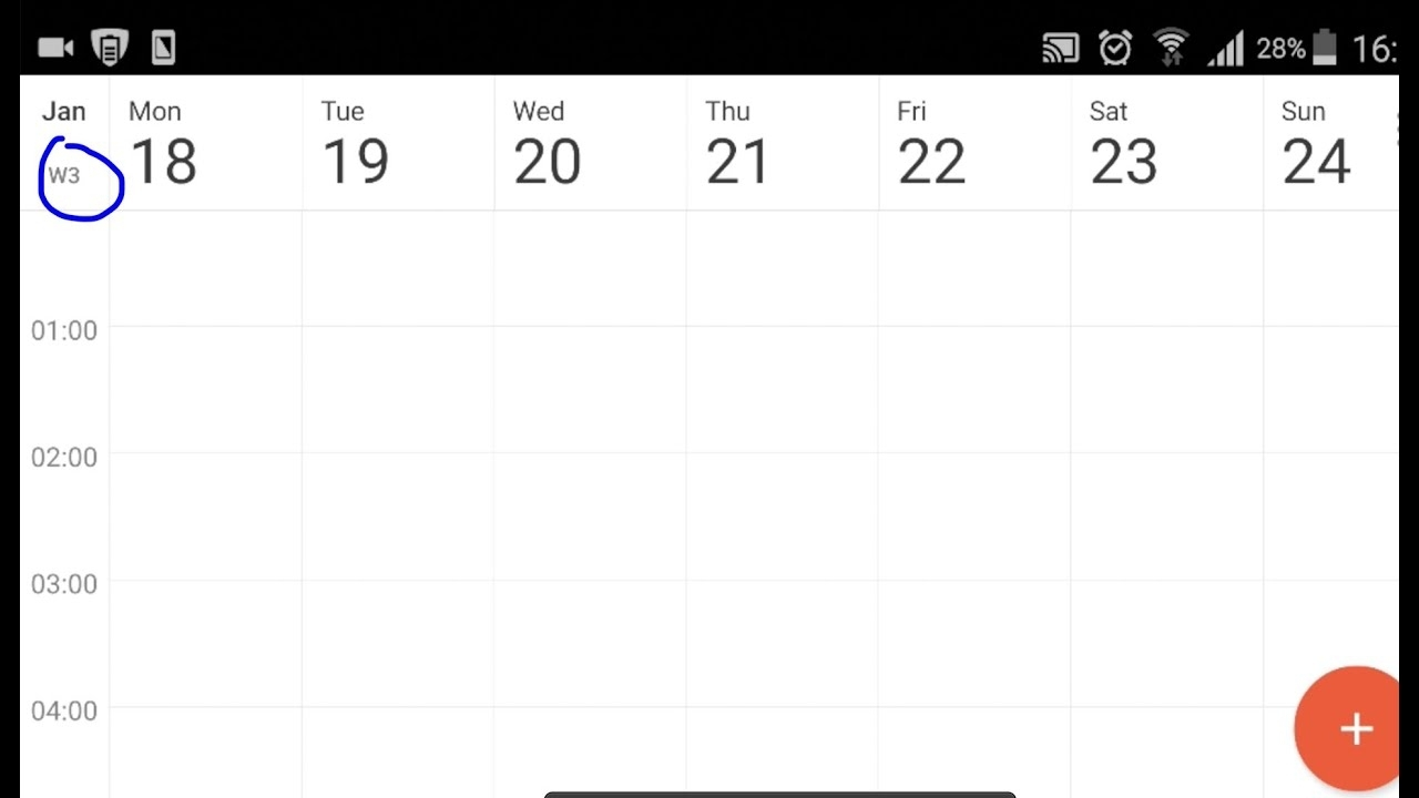 How To Show/hide Week Numbers In Android Google Calender