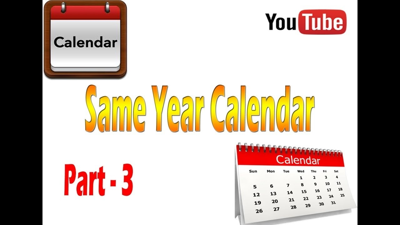 How To Solve Calendar Problems In Reasoning Of Same Year