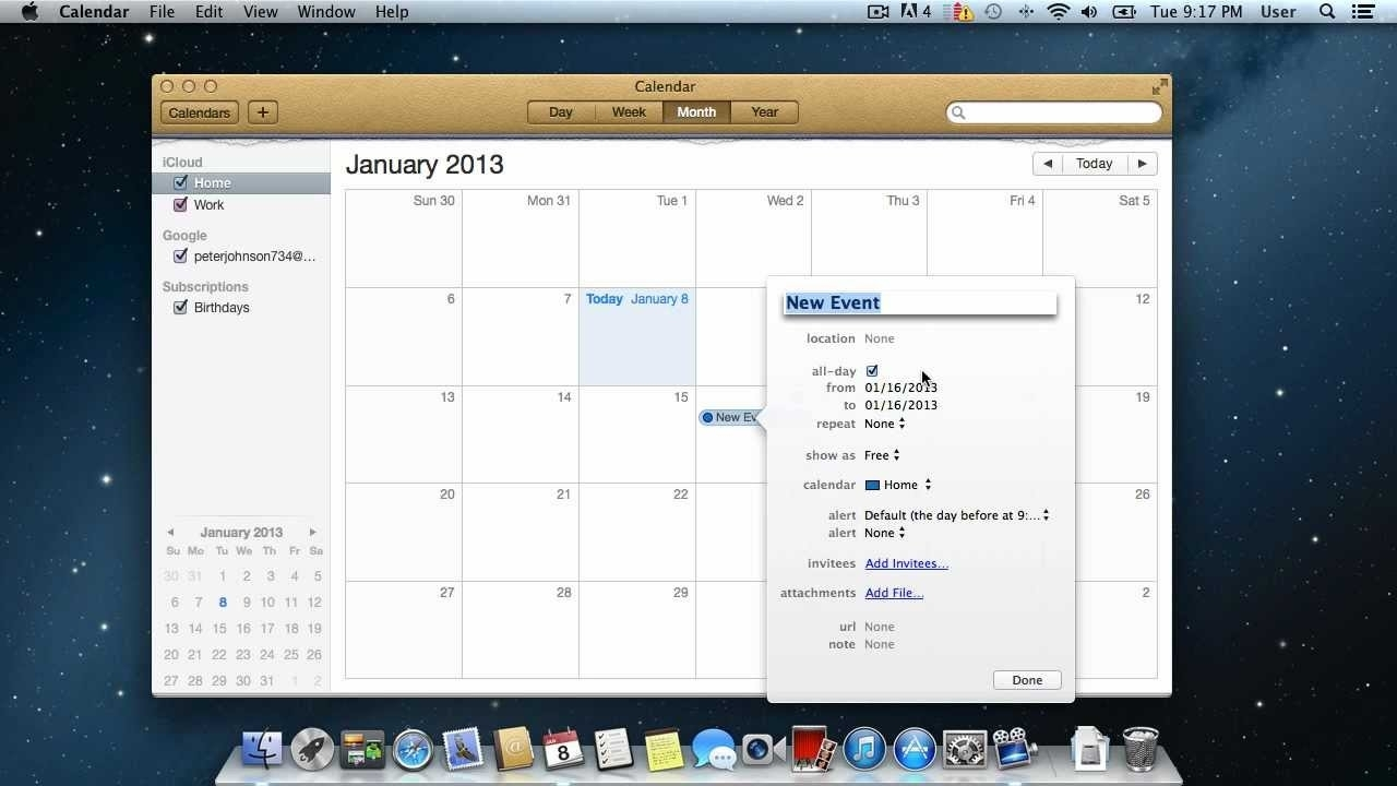 How To Use Calendar On Mac