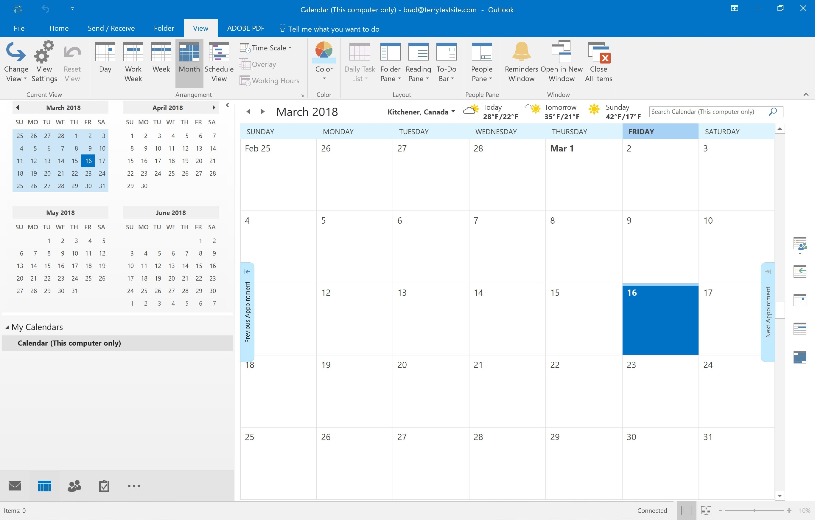 How To View And Customise Calendars In Outlook 2016