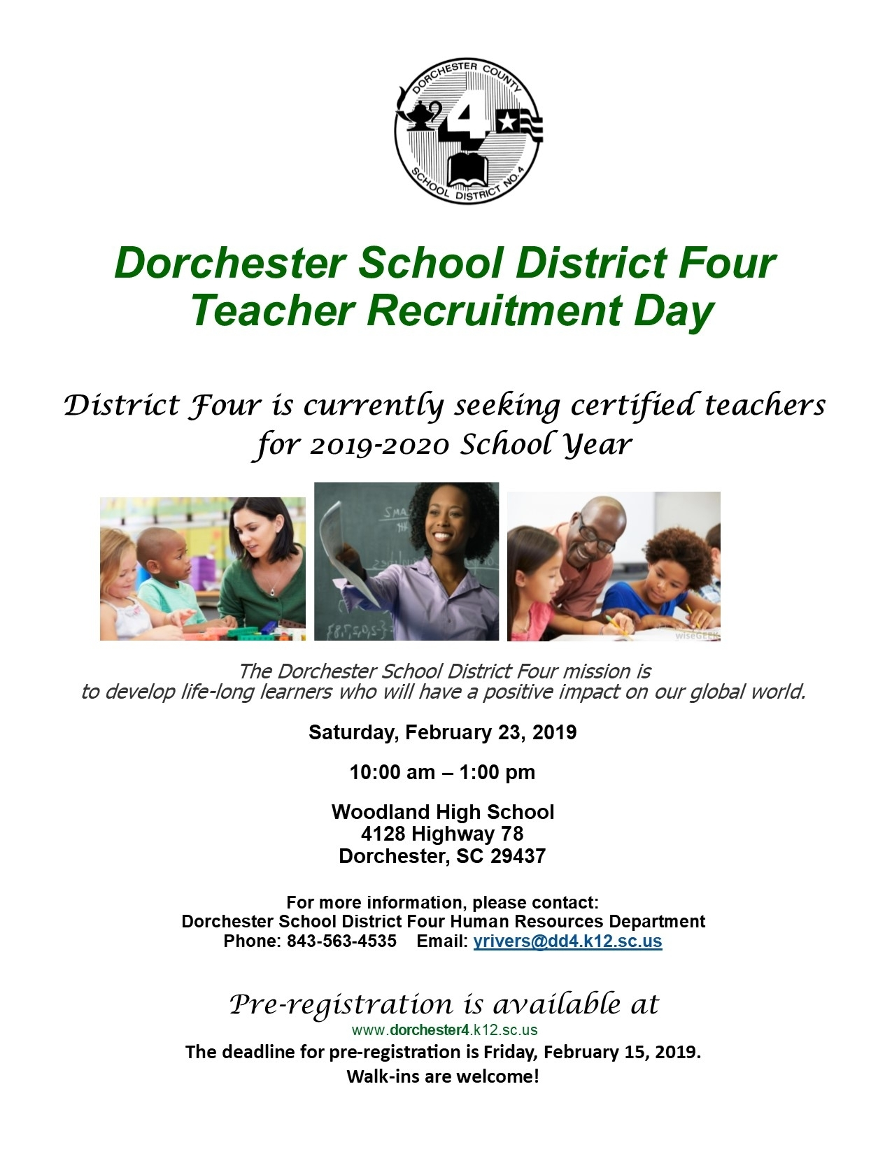 Human Resources | Dorchester County School District 4