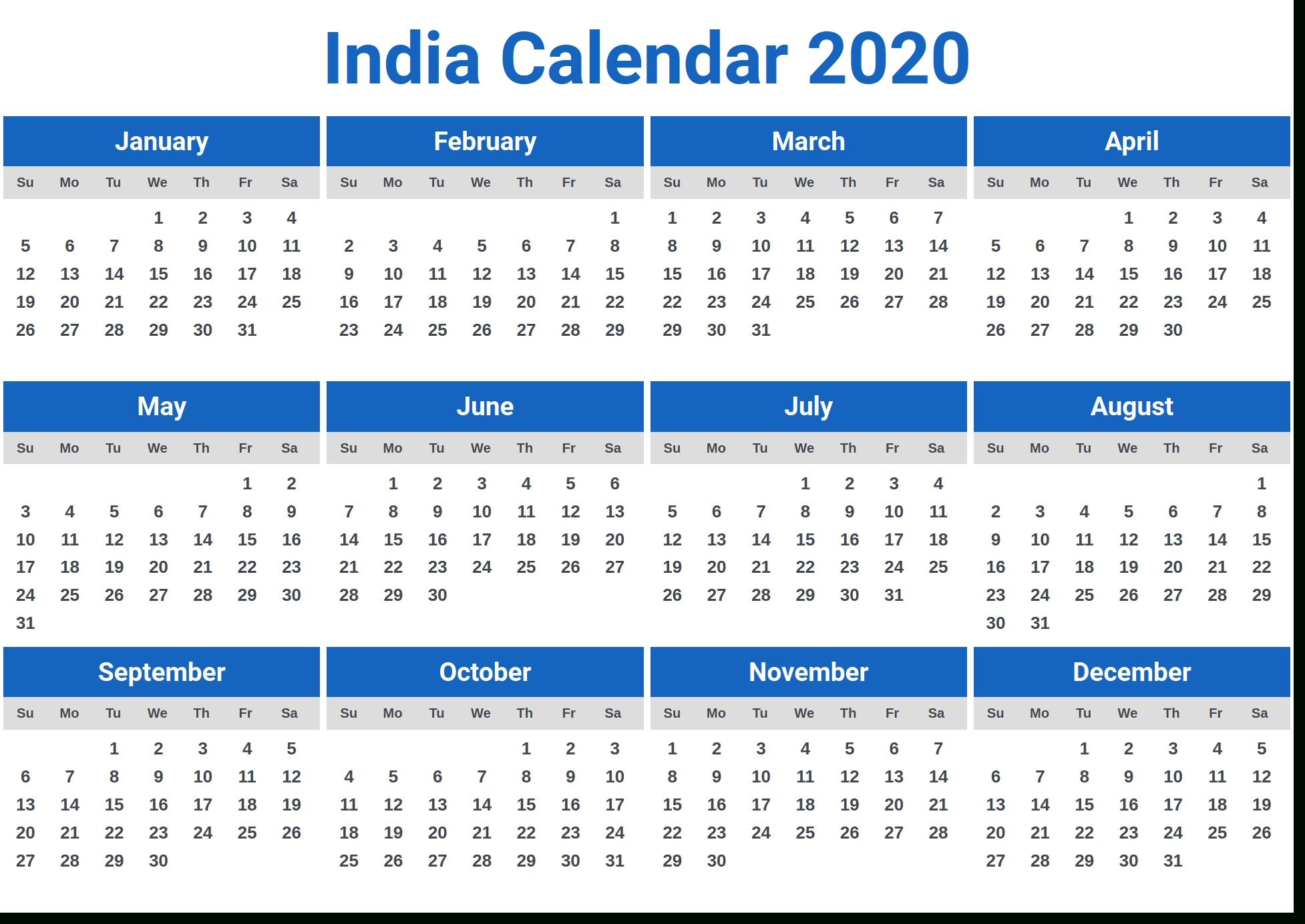 Image For India Calendar 2020 In 2019 | Calendar 2020
