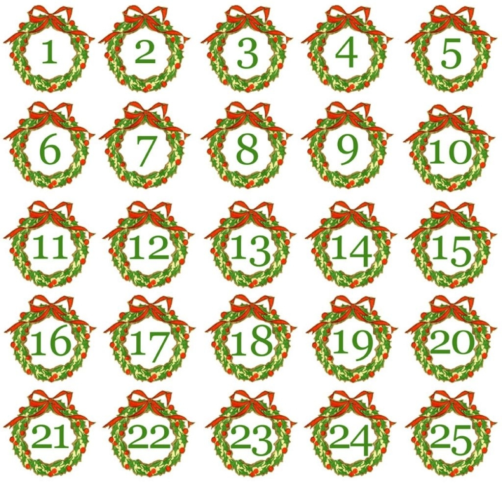 Image Result For Advent Calendar Numbers Printable | Advent