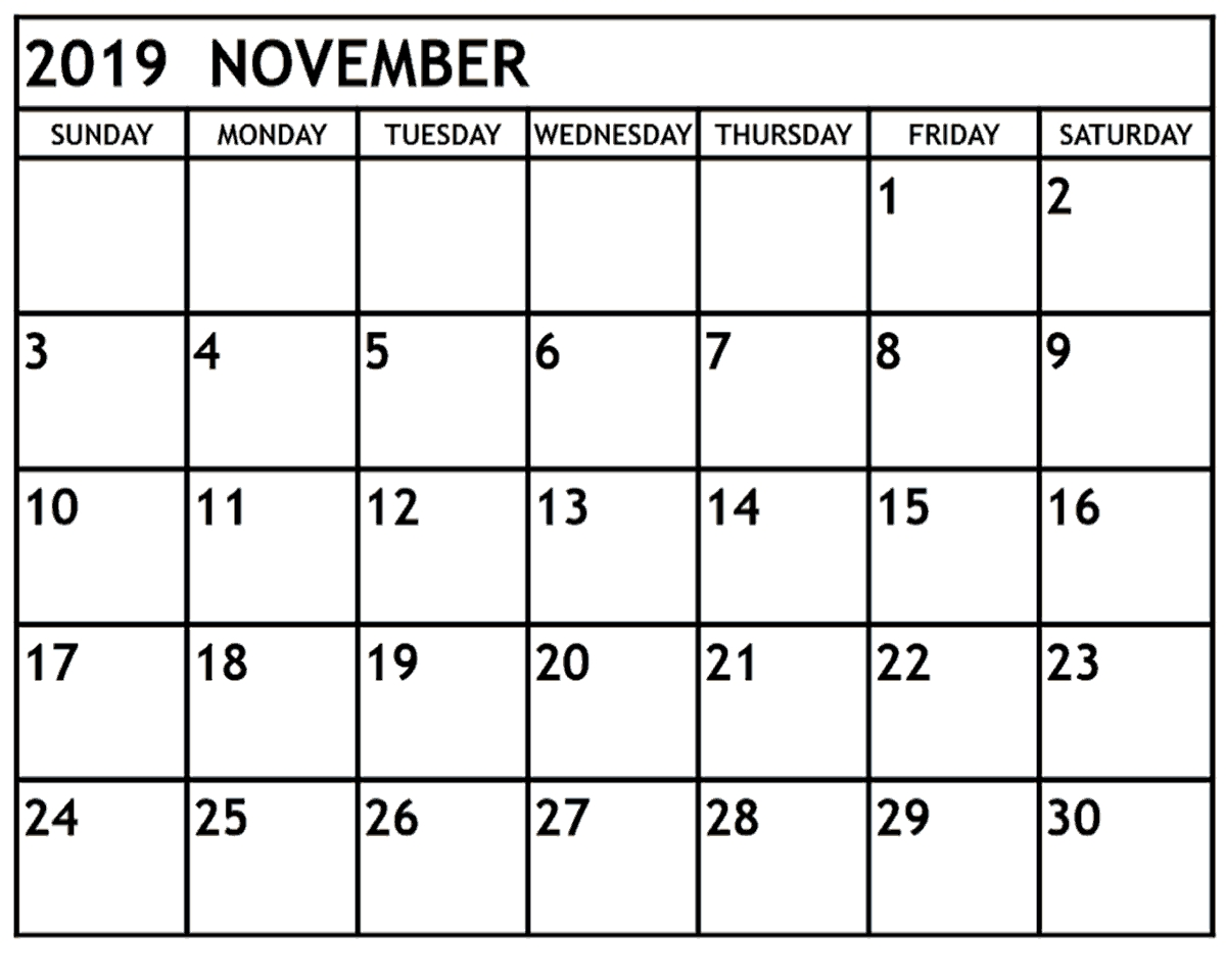 Images November 2019 Printable Calendar | Printable Calendar
