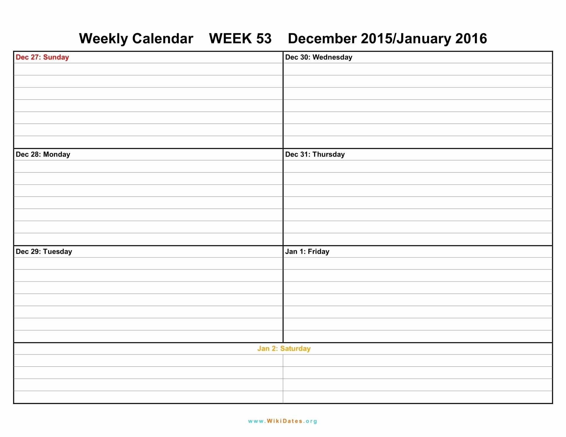 Incredible Free 6 Week Blank Calendar • Printable Blank
