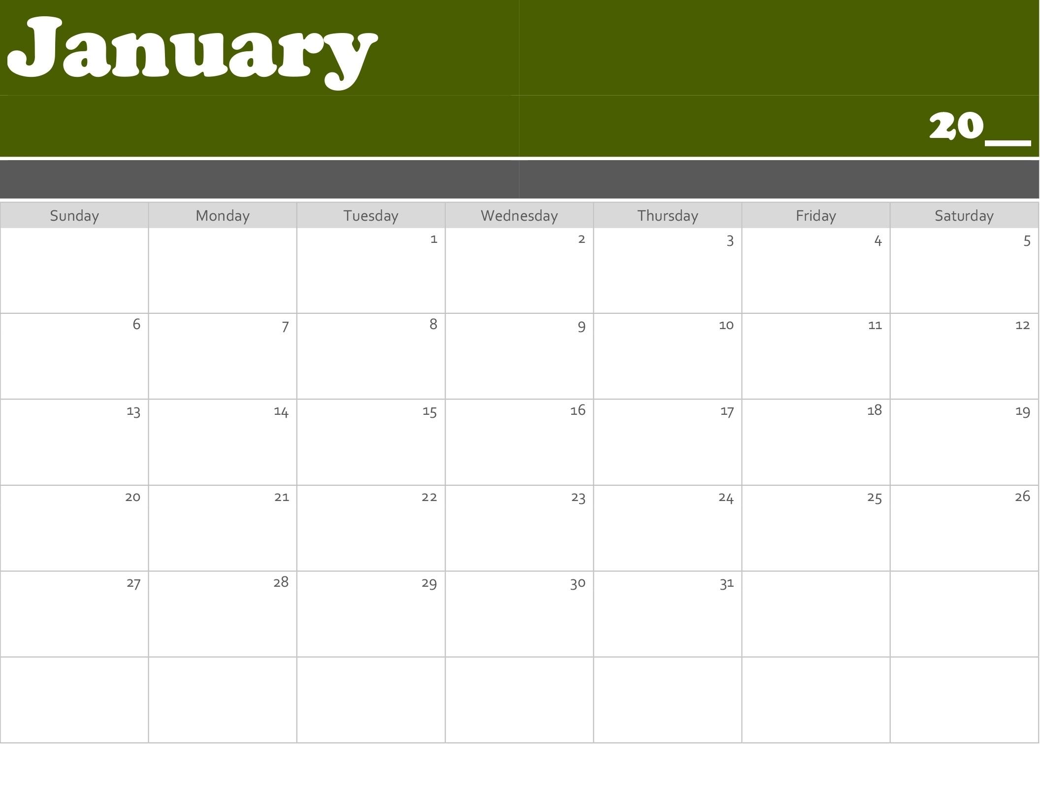 Incredible Print Blank Calendar Office 365 • Printable Blank