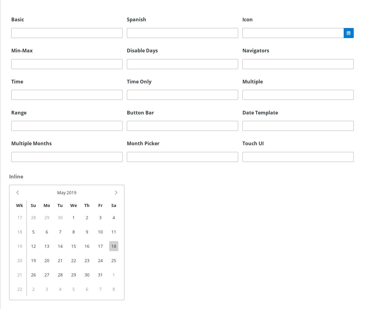 Input - Calendar - 《Primeng Document》 - 书栈网 · Bookstack