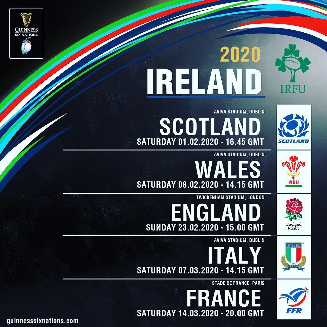 "Irish Rugby On Twitter: ""here's The @sixnationsrugby"