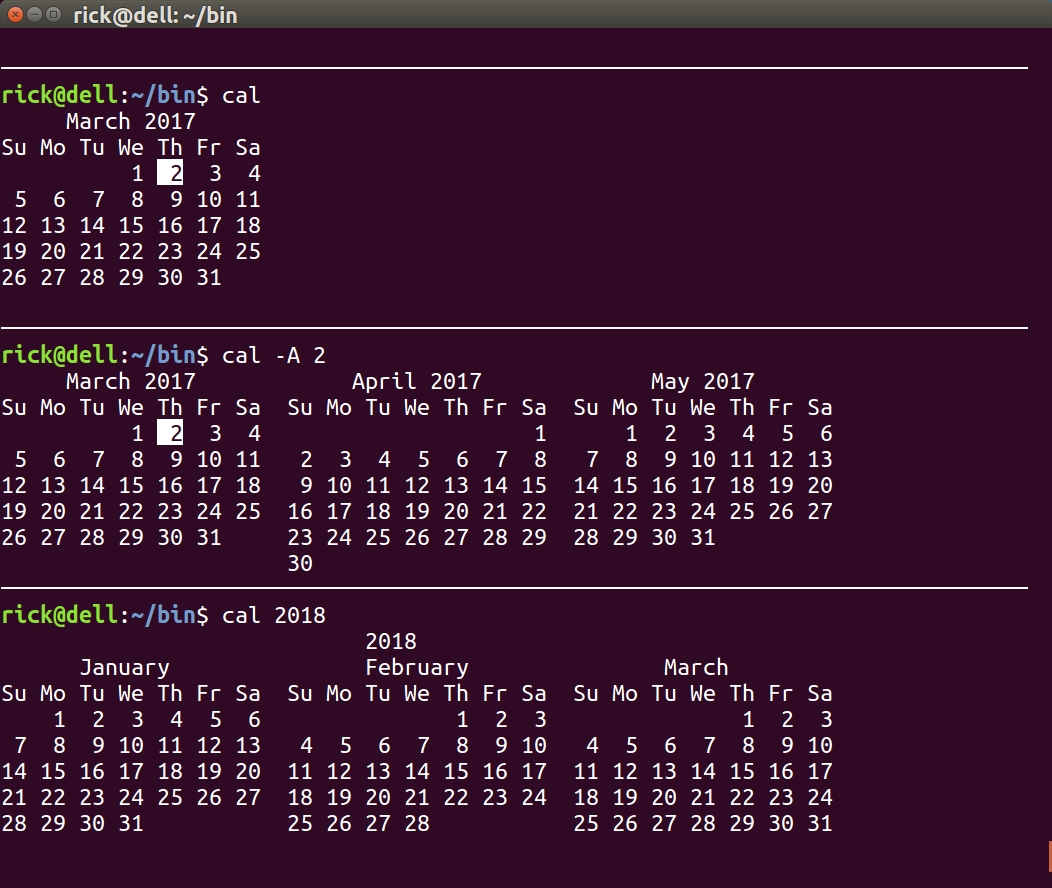 Is There A Command To Display A Calendar In The Terminal