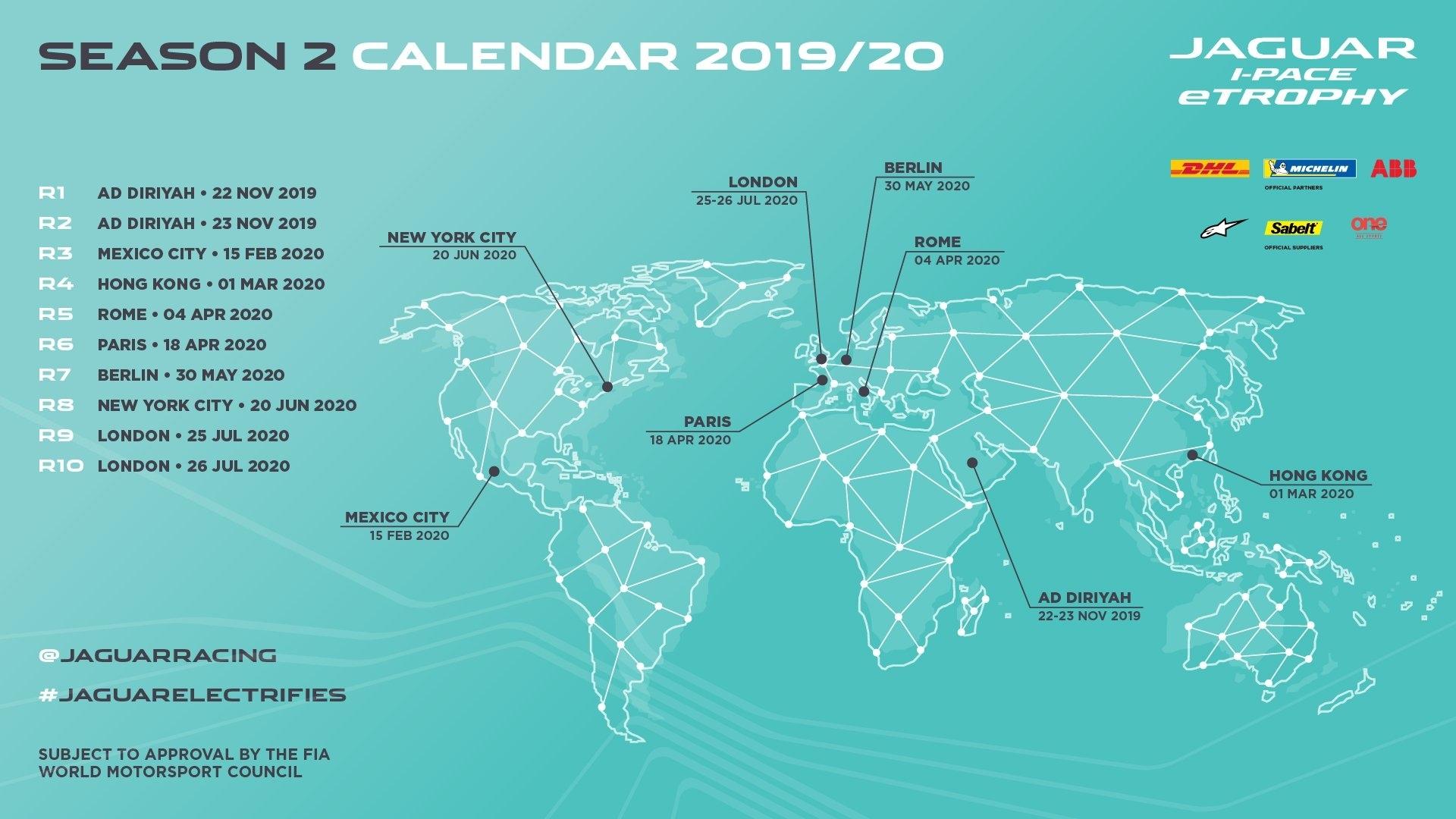 Jaguar I-Pace Etrophy] 2019–20 Calendar : Formulae