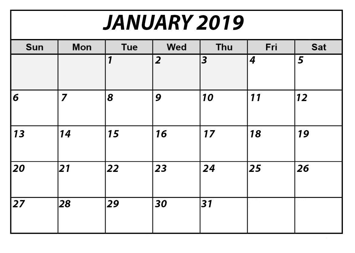 Free Printable Calendar Bold Print