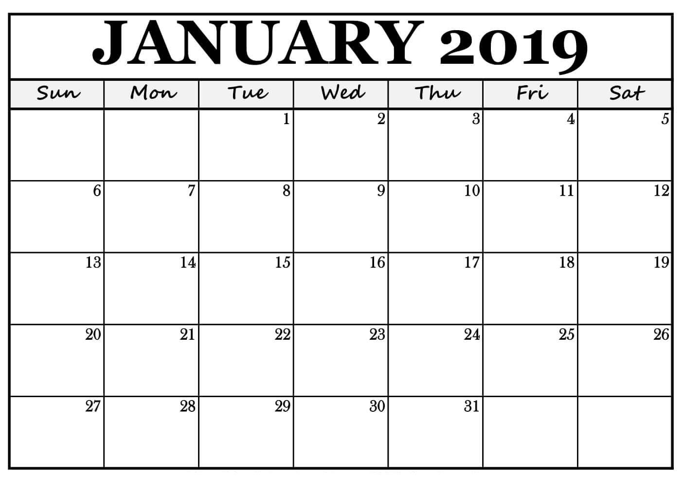 January 2019 Printable Calendar Word   November Printable