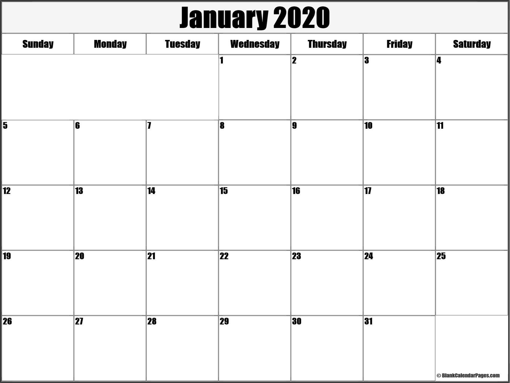 January 2020 Calendar Template #january #january2020