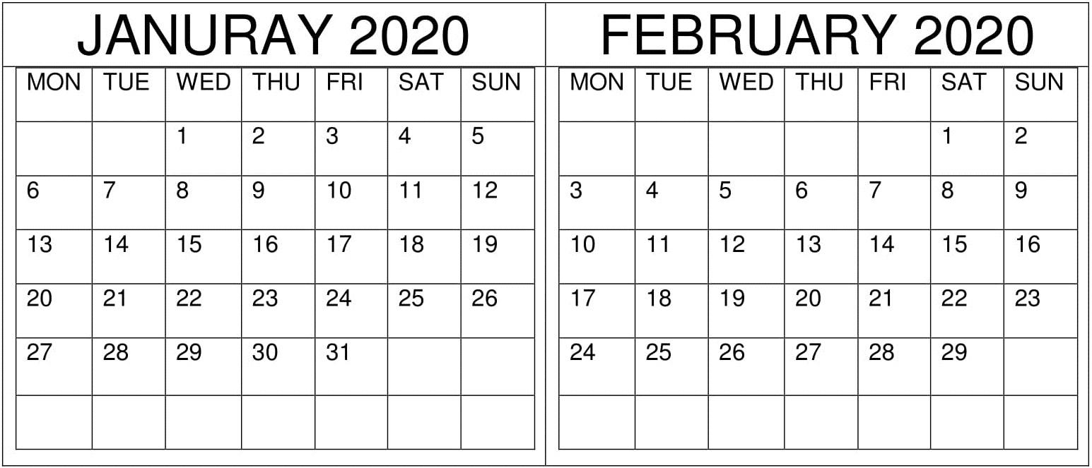 January February 2020 Calendar - Album On Imgur