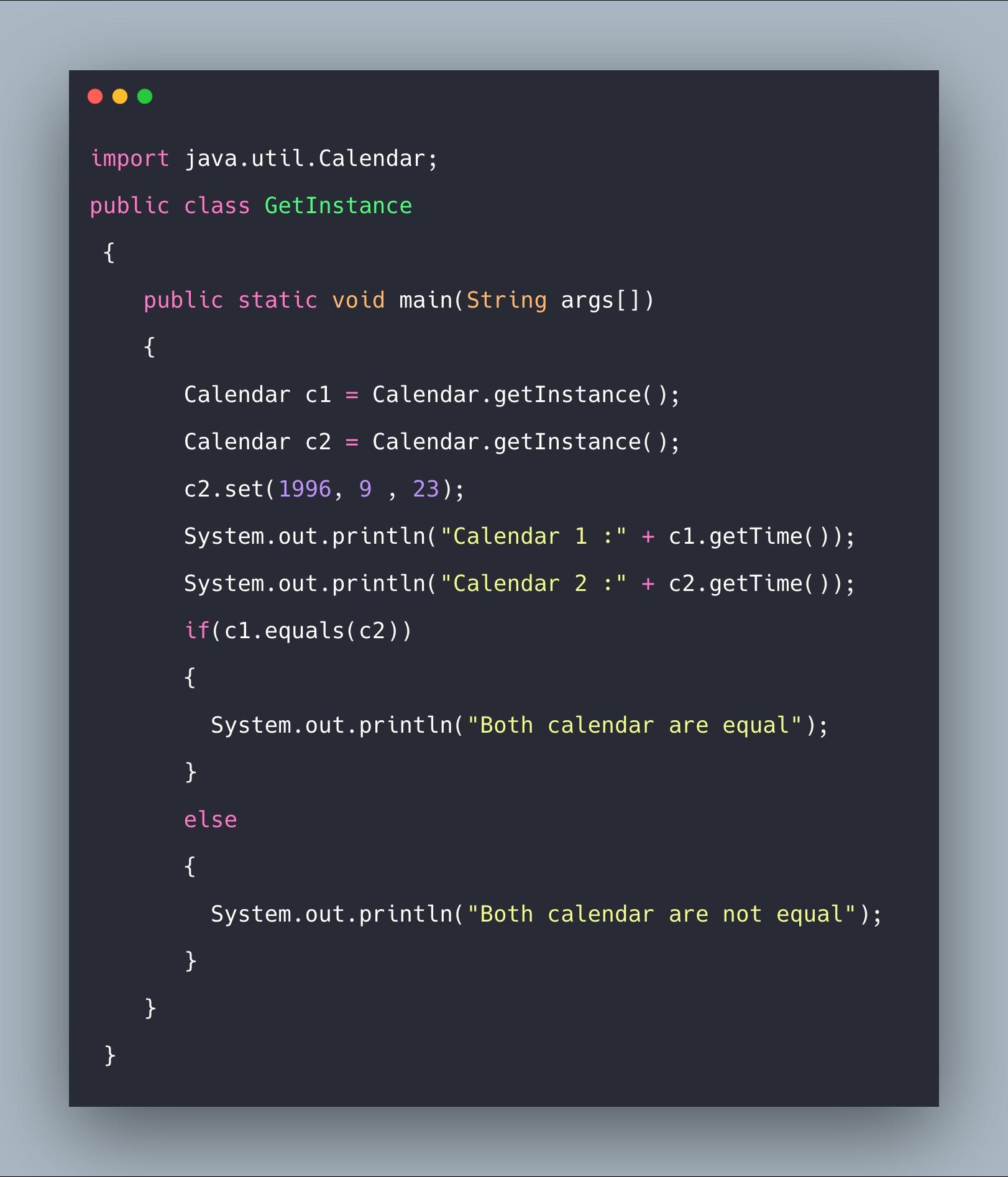 Java Calendar Class Tutorial With Example | Calendar Class