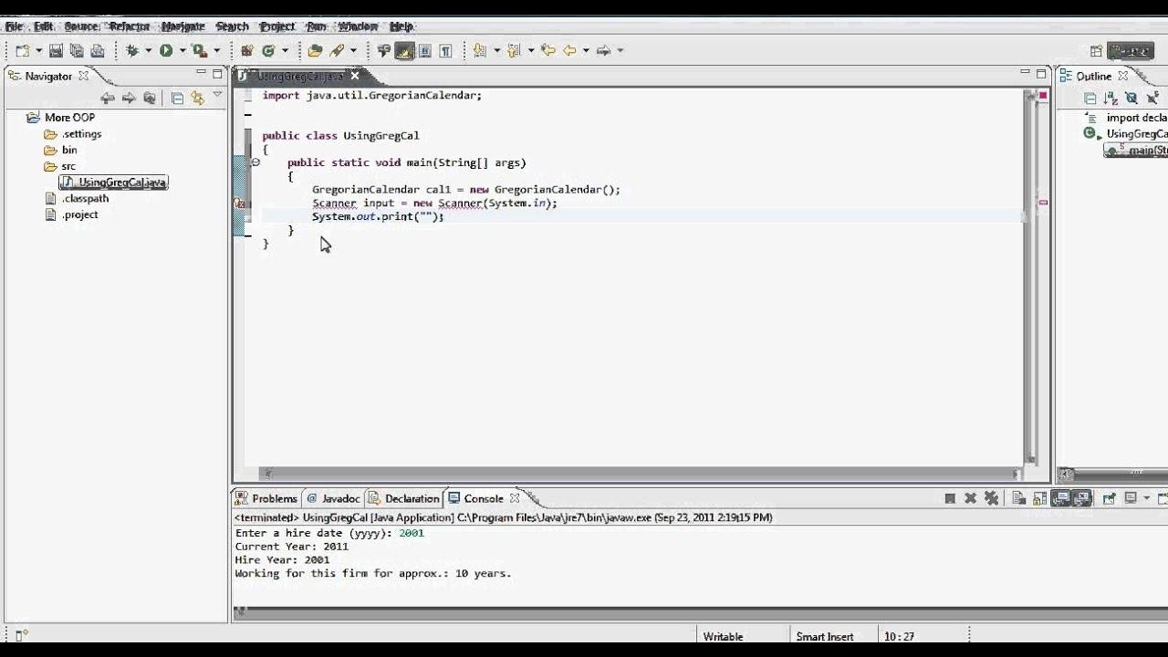Java Tutorial - Using Gregorian Calendar - Static Vs Non-Static