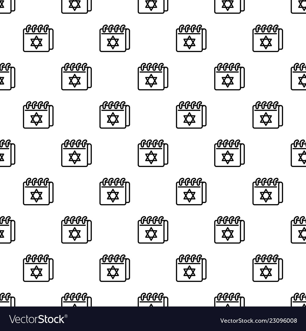 Jewish Calendar Pattern Seamless