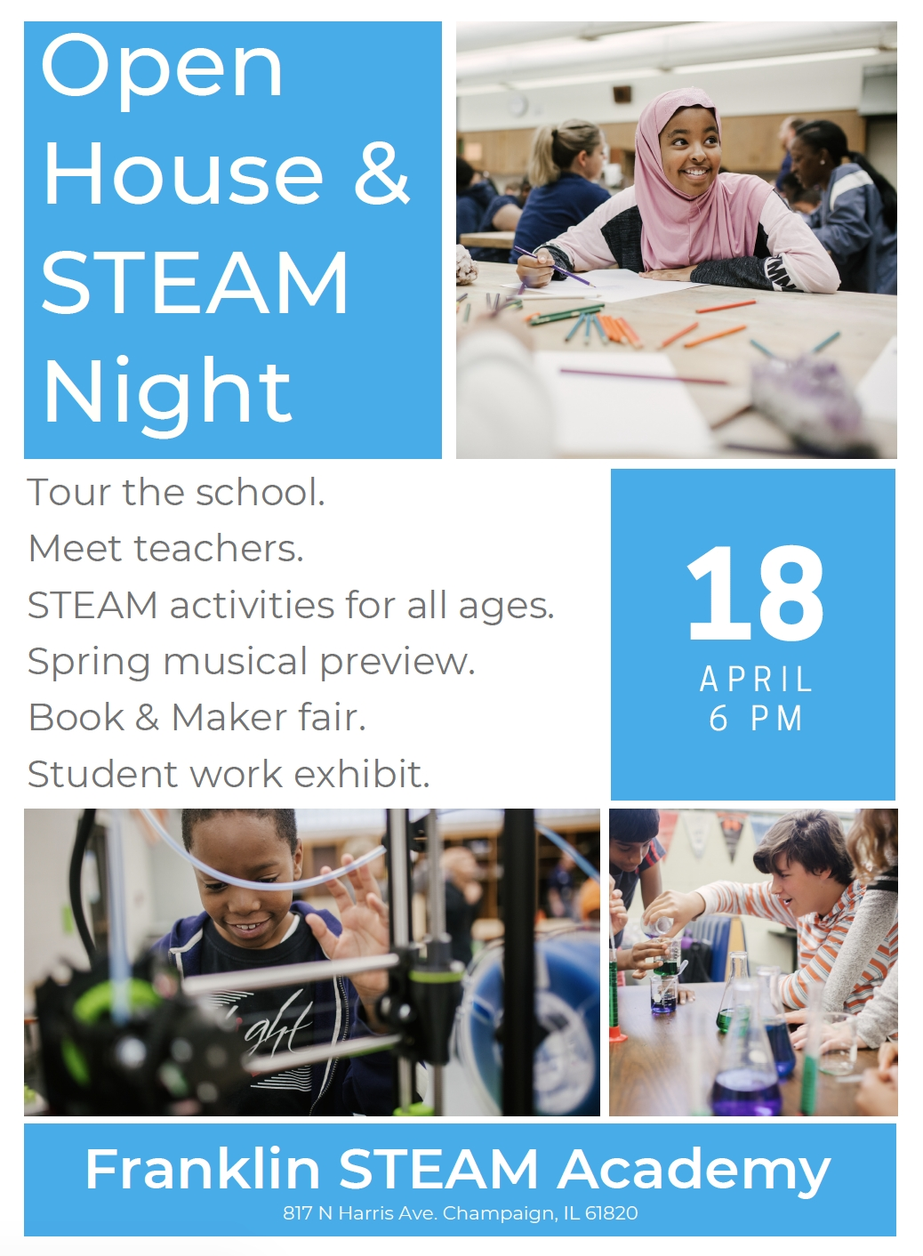 Join Us April 18 For The Franklin Steam Academy Open House