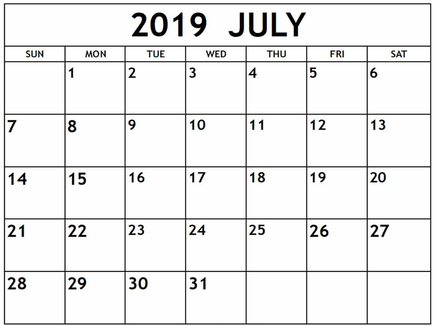 July 2019 Calendar Nz | Free Printable Calendar Shop