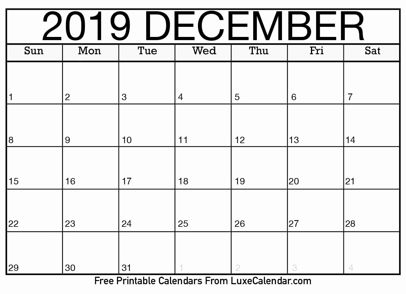 July To December Calendar 2019 | Calendar Template