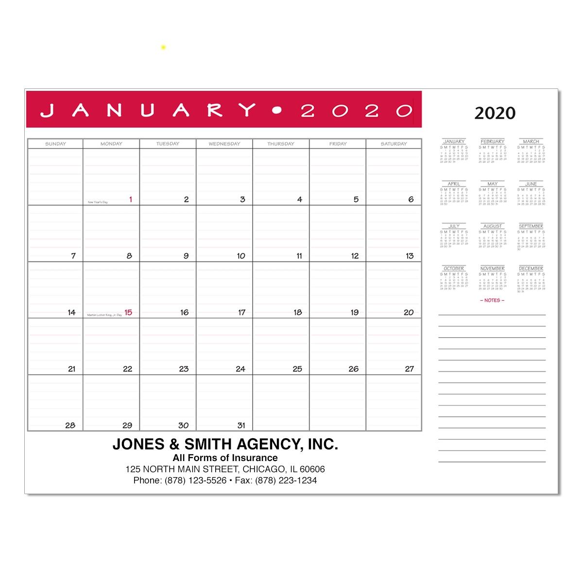 Jumbo Desk Pad Calendar