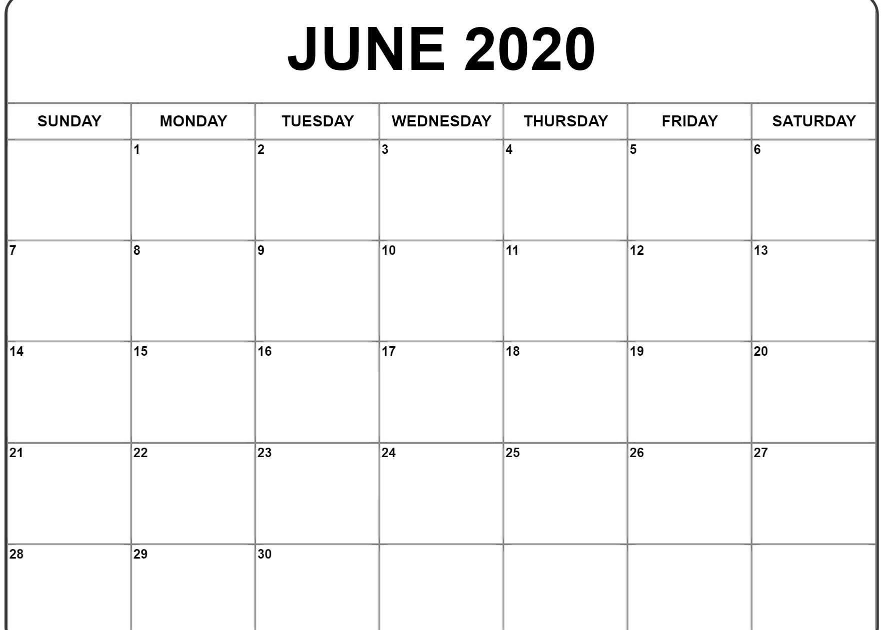 June 2020 Calendar | Printable Calendar Template, Father's