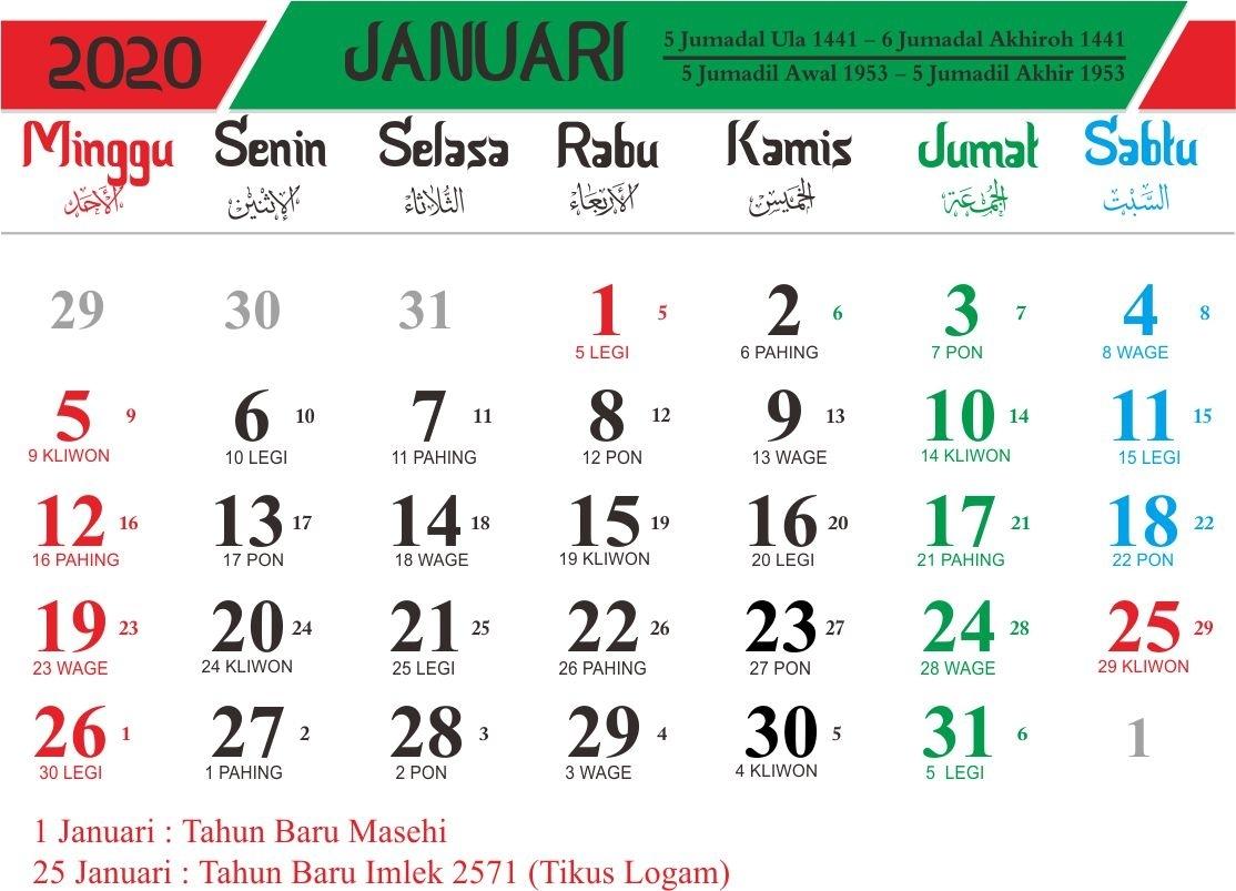Kalender Hijriyah 1441 H