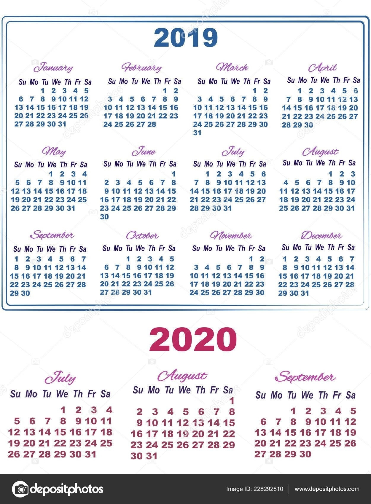Kalneder 2020 Juli – August | Gallery Of Calendar Printable