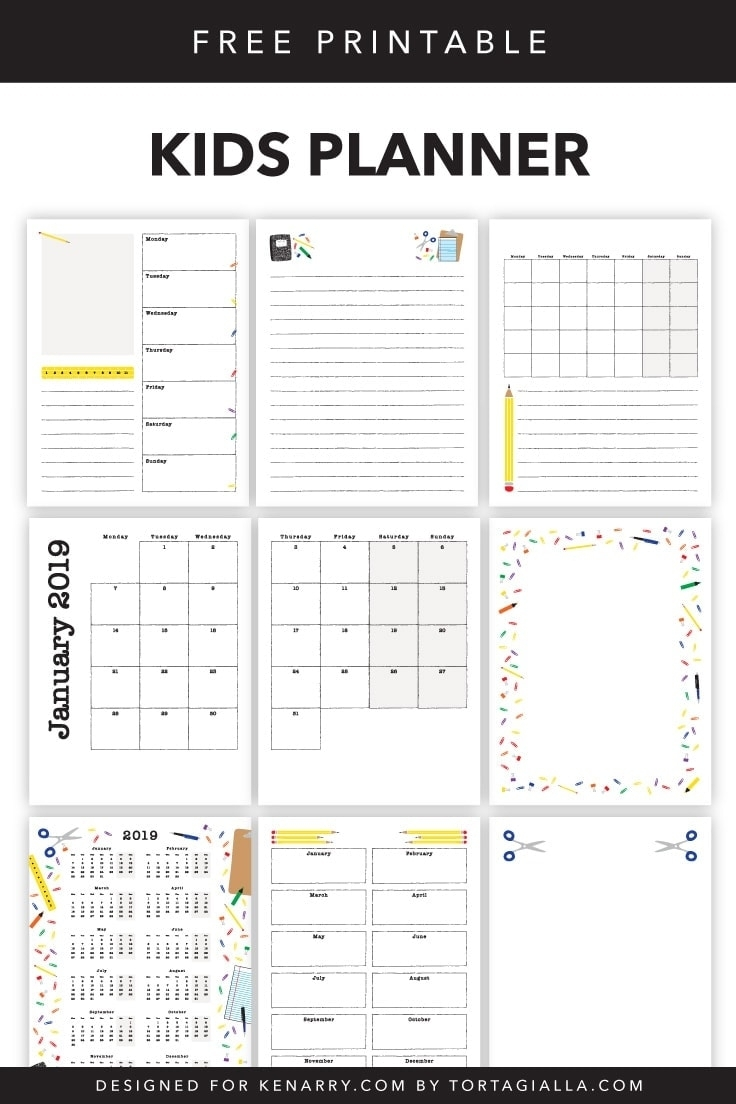 Kids Planner Printables: Free Calendar Pages | Ideas For The