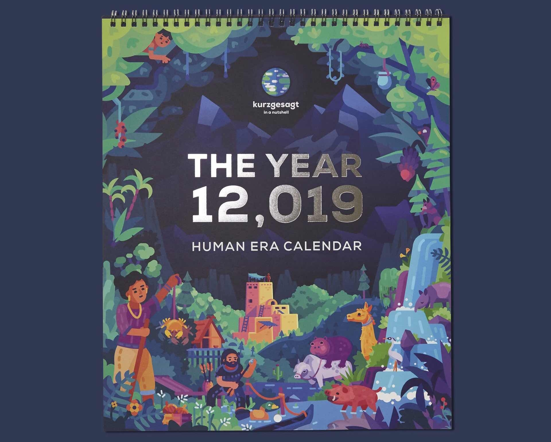 "Kurzgesagt's ""the Year 12,019 Human Era"" Calendar — Tools"