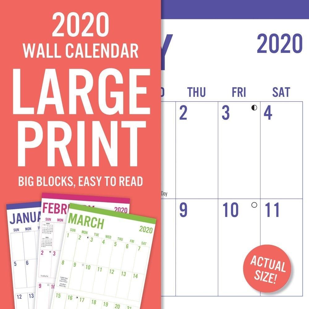 Large Print 2020 Wall Calendar