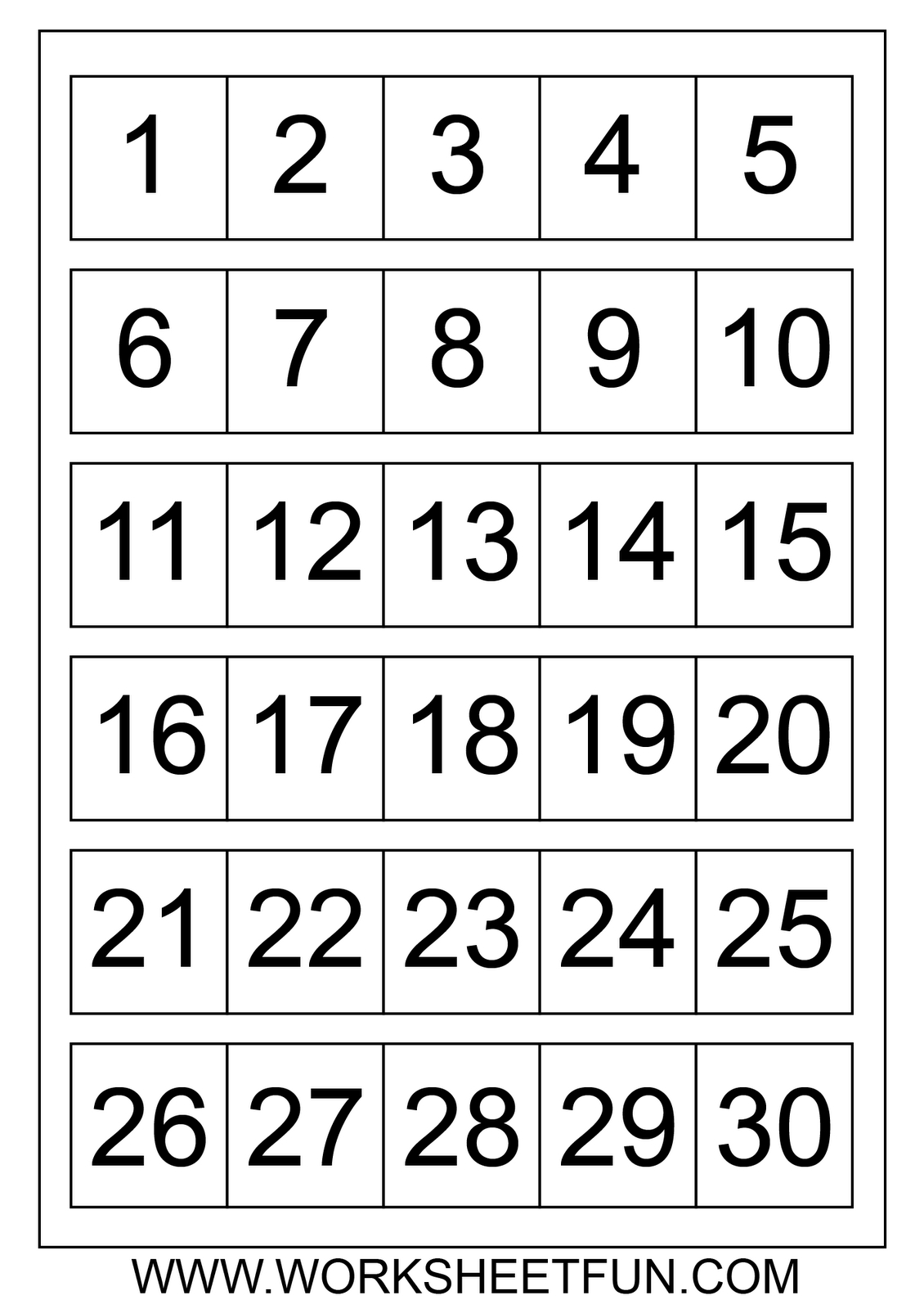 Large Printable Numbers 1 100 | To Dot With Numbers