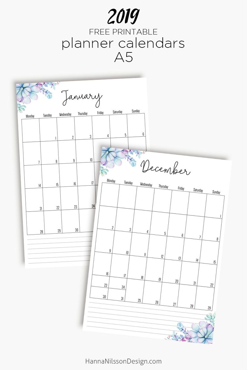 Lined Planner Inserts | Printable Planner, Monthly Planner