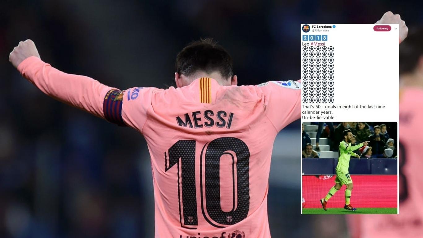 Lionel Messi Sets 2018 Goals Record | Fox Sports Asia