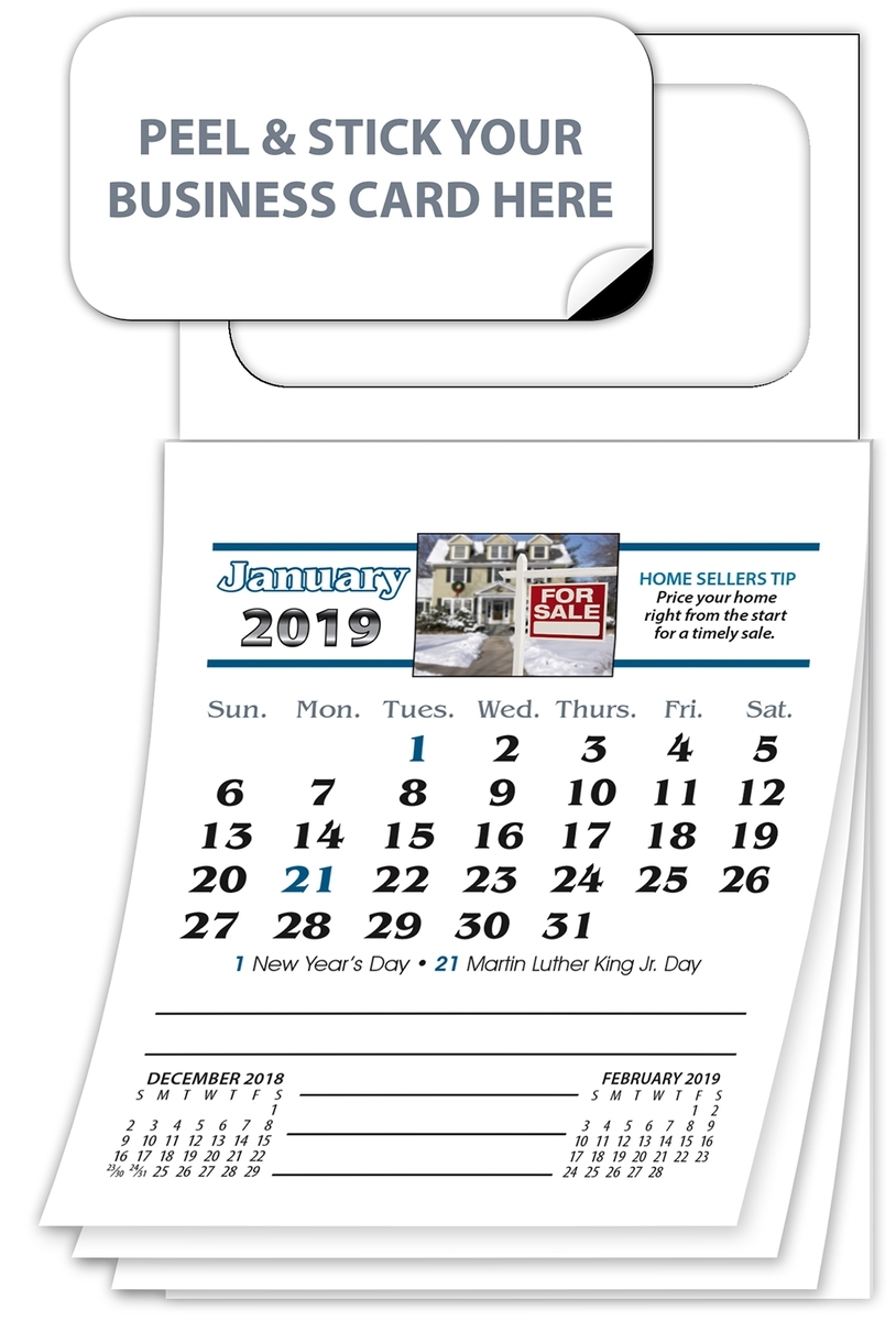 Magnetic Real Estate Calendar (Mbc) - Jan. 2020 W/cover