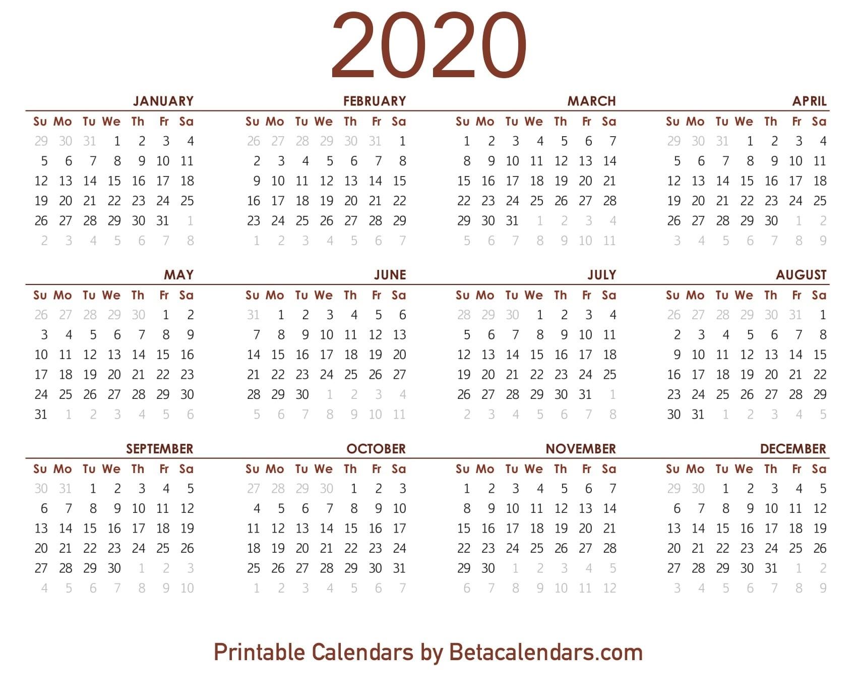 Make Your Own 2020 Calendar | Free Printable Calendar