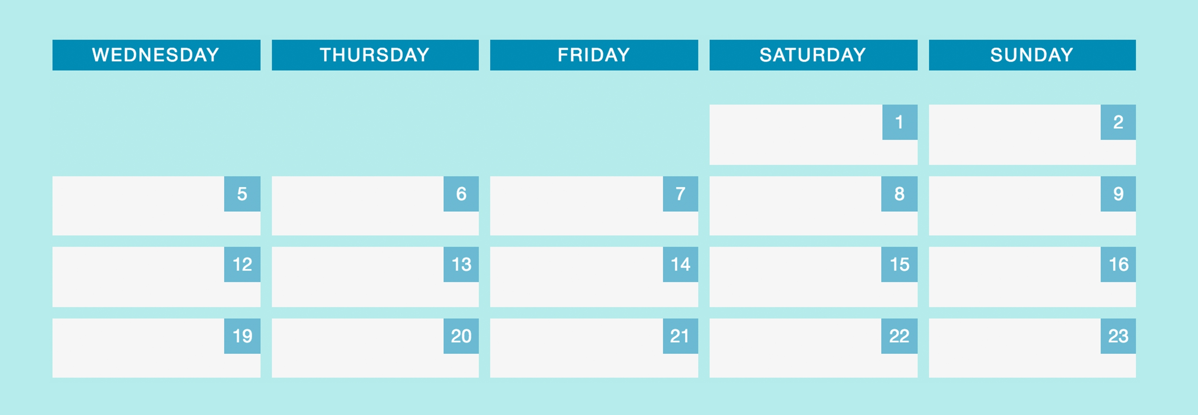 Making A Responsive Calendar For Dynamic Dates Using Flexbox