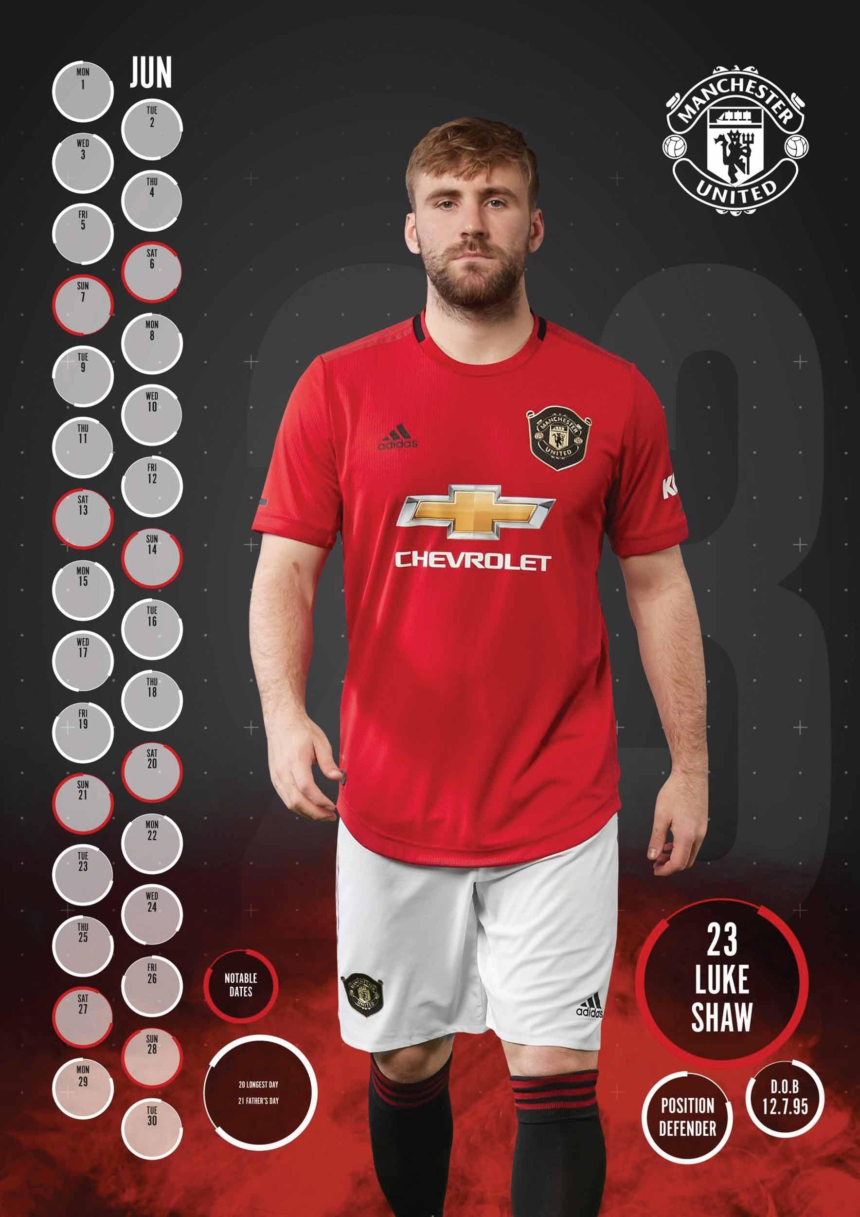 Manchester United Fc A3 Calendar 2020