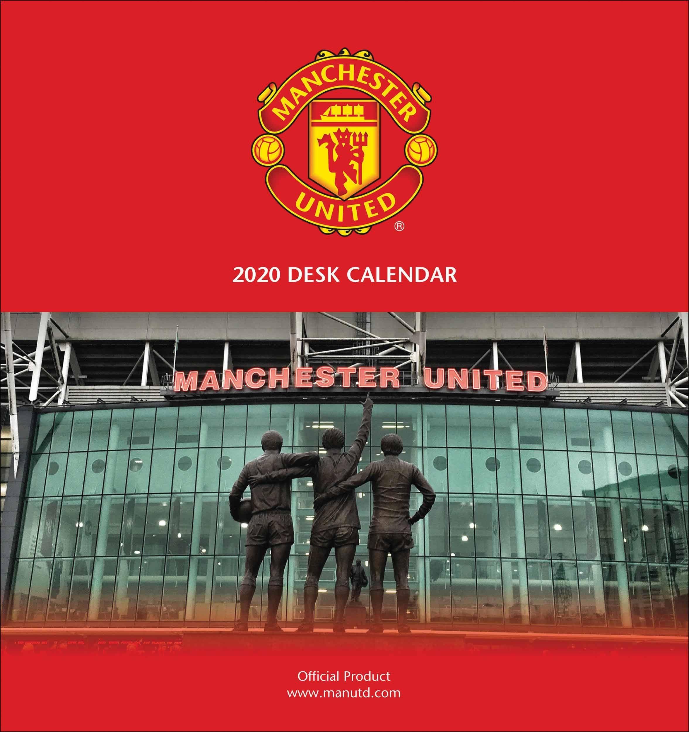 Manchester United Fc Easel Calendar 2020