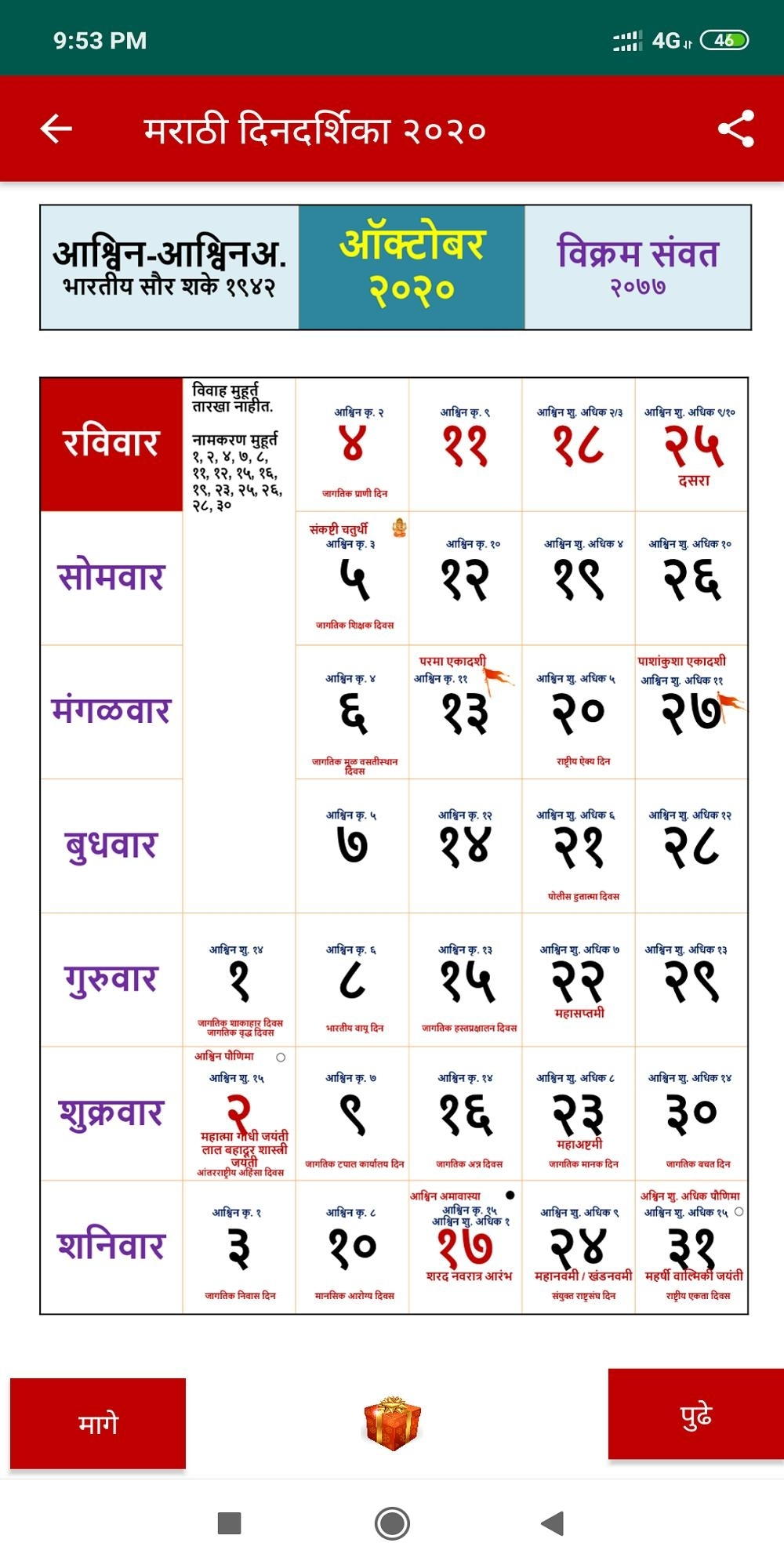 Marathi Calendar 2020 For Android - Apk Download